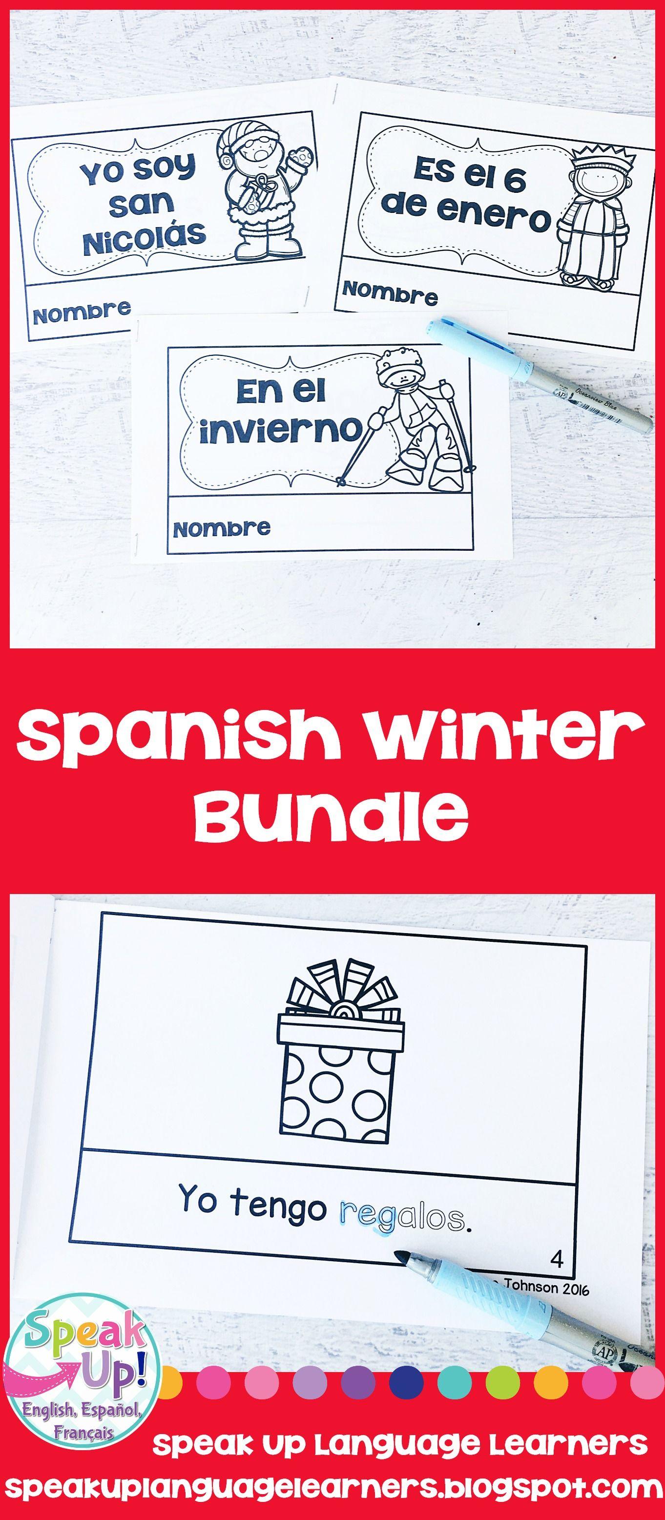 Winter Spanish Bundle San Nicolas Navidad Los Reyes Magos El