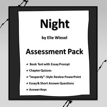 English Essay Writing Examples Night By Elie Wiesel Assessment Pack Night By Elie Wiesel Essay Prompts Science In Daily Life Essay also Business Etiquette Essay Night By Elie Wiesel Assessment Pack  School  Pinterest  Night  How To Start A Science Essay