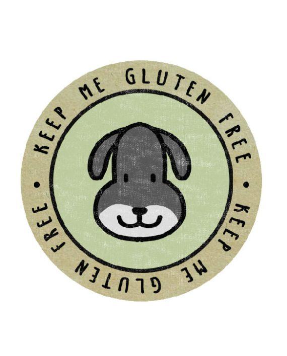 Farm Yard Dog – Keep Me Gluten Free Stickers – x18 | Keep Me