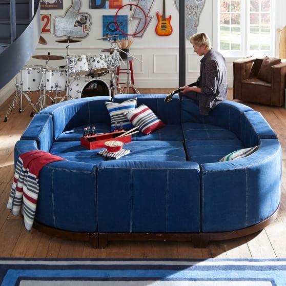 Round Cushy Lounge Collection | PBteen | Trey\'s Bedroom | Pinterest ...