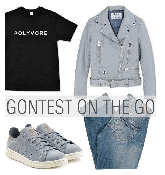 """782. #ContestOnTheGo #ContestEntry"" by zaandupreez ❤ liked on Polyvore featuring Pepe Jeans London, adidas Originals, Acne Studios, contestentry and ContestOnTheGo"