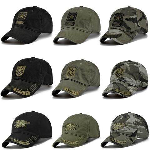 06c8646de9d 2018 High Quality Army Cap Camo Baseball Cap Men Camouflage Snapback  Tactical Cap Mens Baseball Caps
