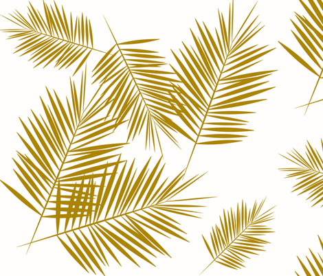 Colorful Fabrics Digitally Printed By Spoonflower Gold Glitter Palm Leaves White Small Silhuettes Faux Gold Imitation Tropical Forest White Background Gold Glitter Background Abstract Canvas Art Painting
