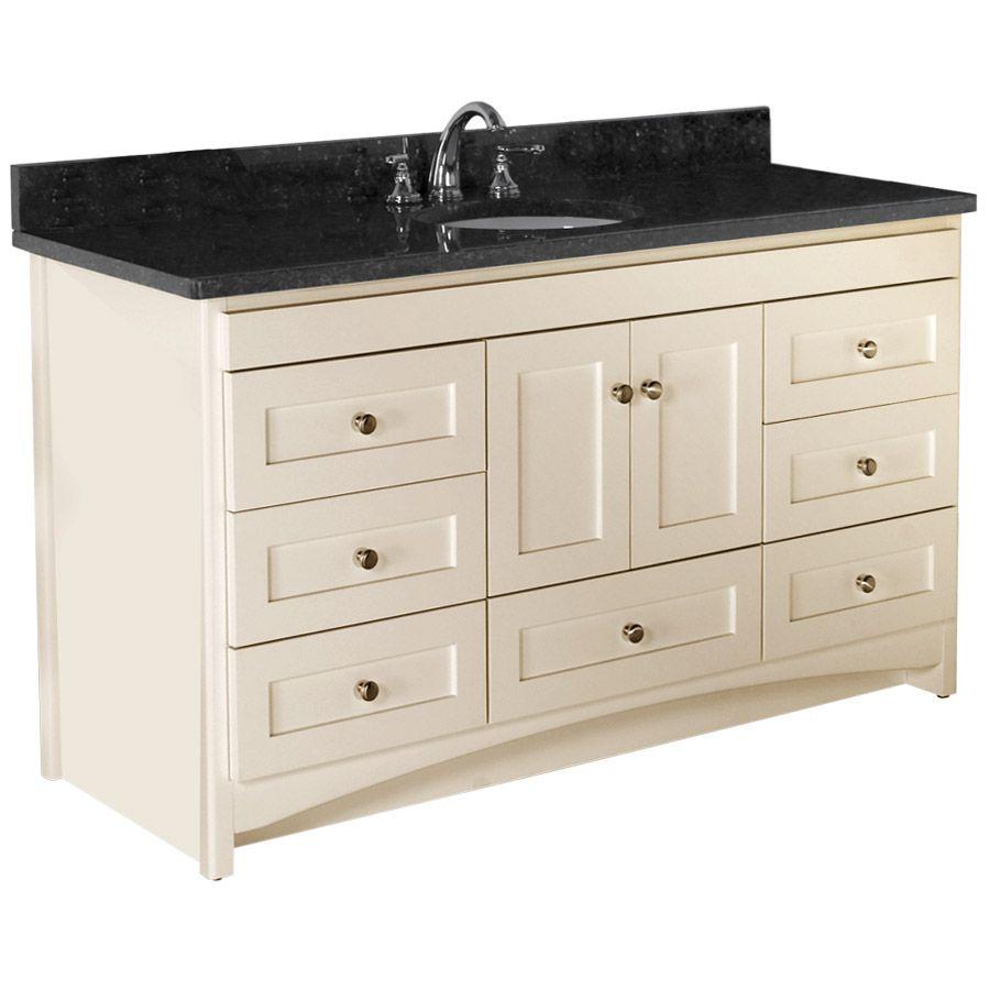 In Shaker Satin Biscuit Vanity Bathroom Design