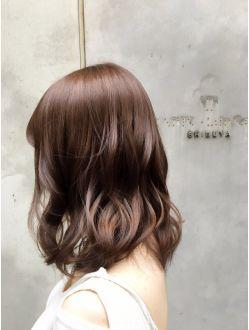 秋カラー ショコラブラウン 面長 髪型 ヘアスタイル 髪 色