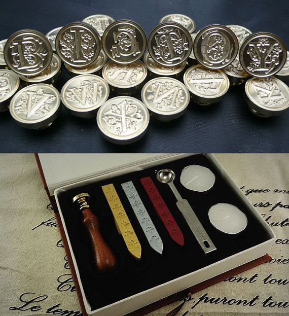 sealing wax tools kit wax seal stamp wax seals stamp a to z