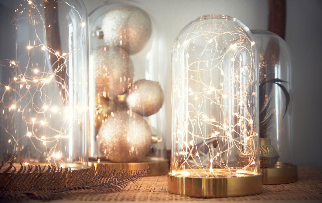Amazing Fabulous A Led Alimentata A Batteria Alluinterno Di Una Campana Di Vetro  Decorativa With Ikea Luci Natale