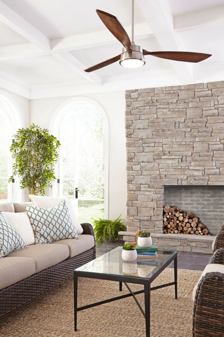 """The 57"""" Destin 3-Blade ceiling fan by Monte Carlo delivers a refined ..."""
