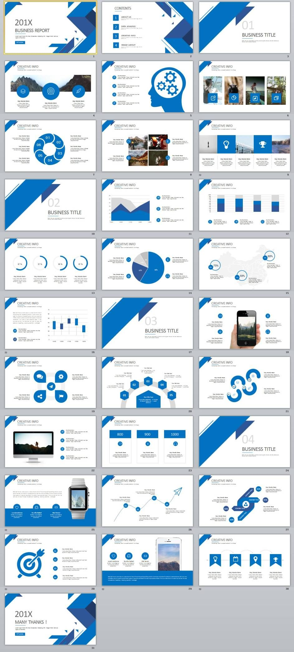 31 best blue business report powerpoint template template 31 best blue business report powerpoint template toneelgroepblik Images