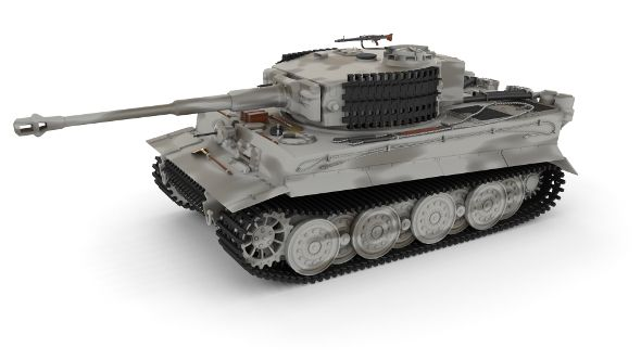 Panzer Tiger Tank Late 1944 v3  Fully customizable 3D model of a