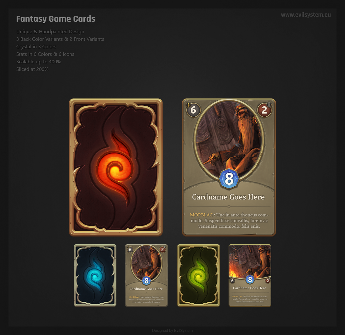 Fantasy Game Cards Pack Asset in Unity Asset Store | Interfaces