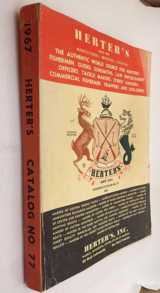 1967 Herter's Wholesale Catalog No. 77 Waseca Minnesota Hunting Fishing Guns