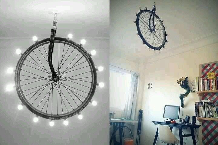 Wheel Light Diy Lamp Recycled Home Decor Lamp Decor
