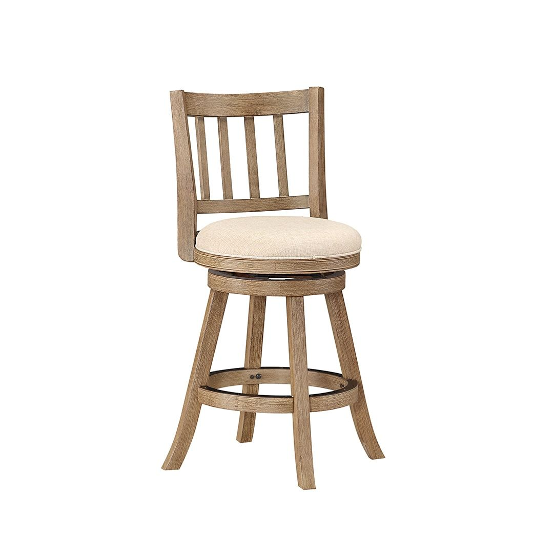 The Gray Barn Parker Swivel 24 Inch Counter Stool Ivory Brown