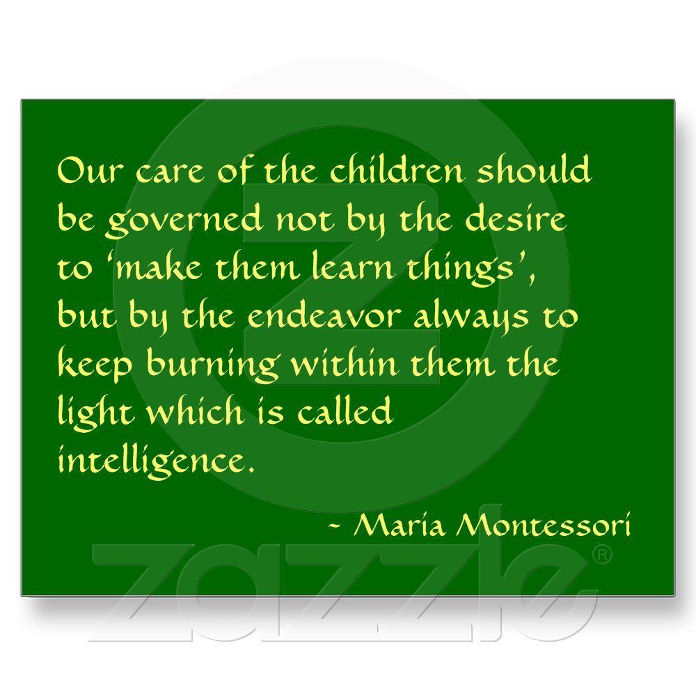 Maria Montessori Quote No 1 Post Card Zazzle Com