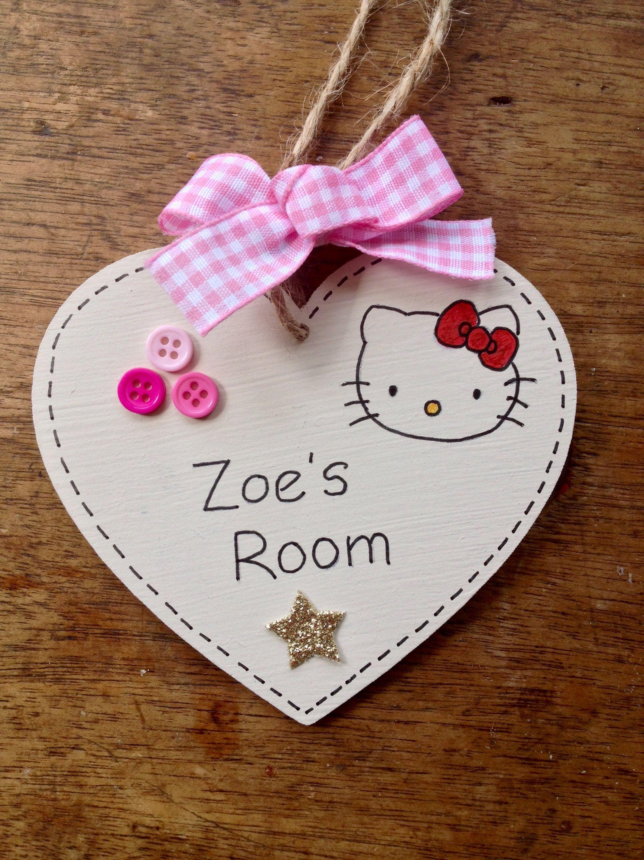 Personalised Name Plaque Door Bedroom Sign Girls Baby
