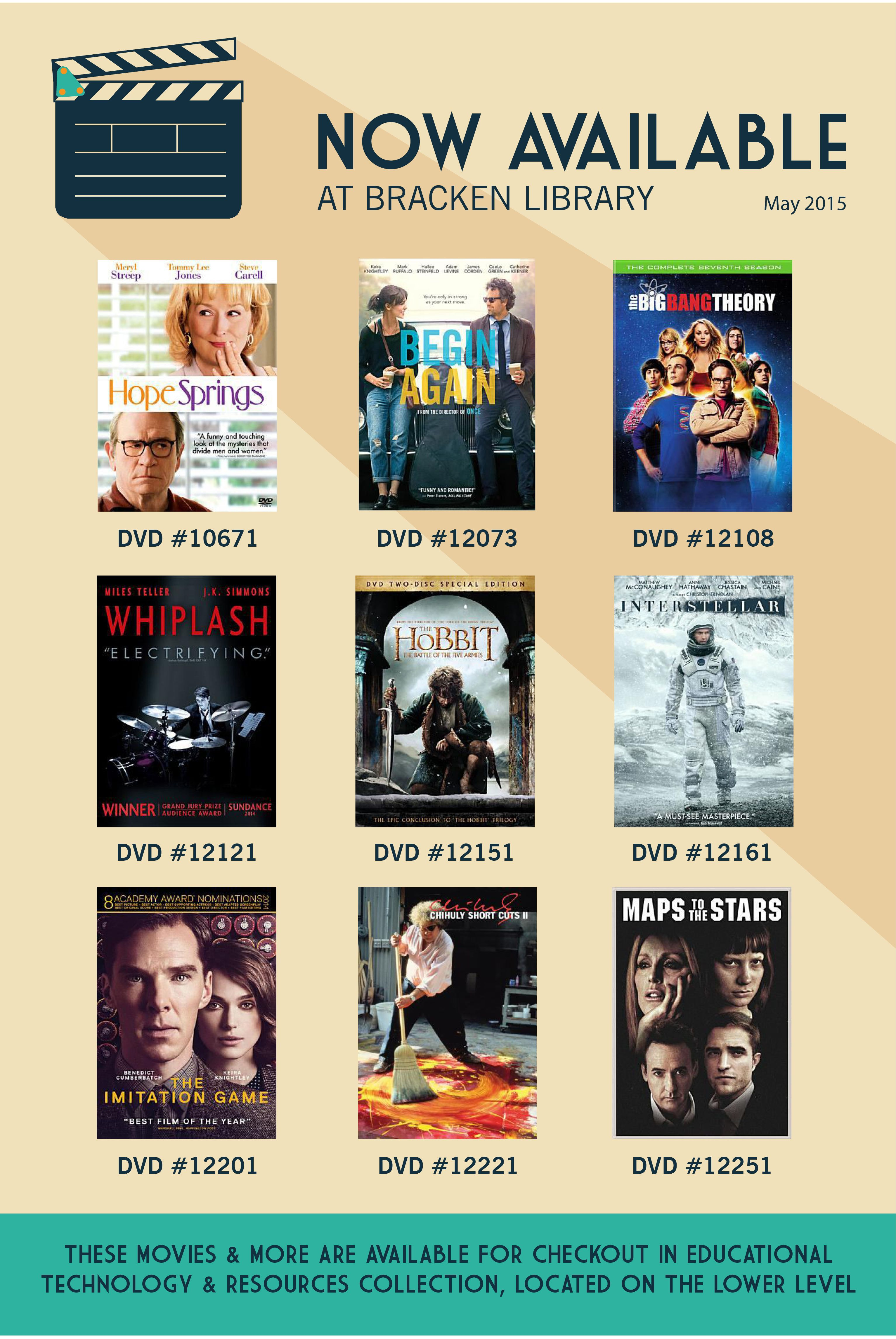 Movies That Are Now Available At Bracken Library May 2015 Ball State University Library Health Science