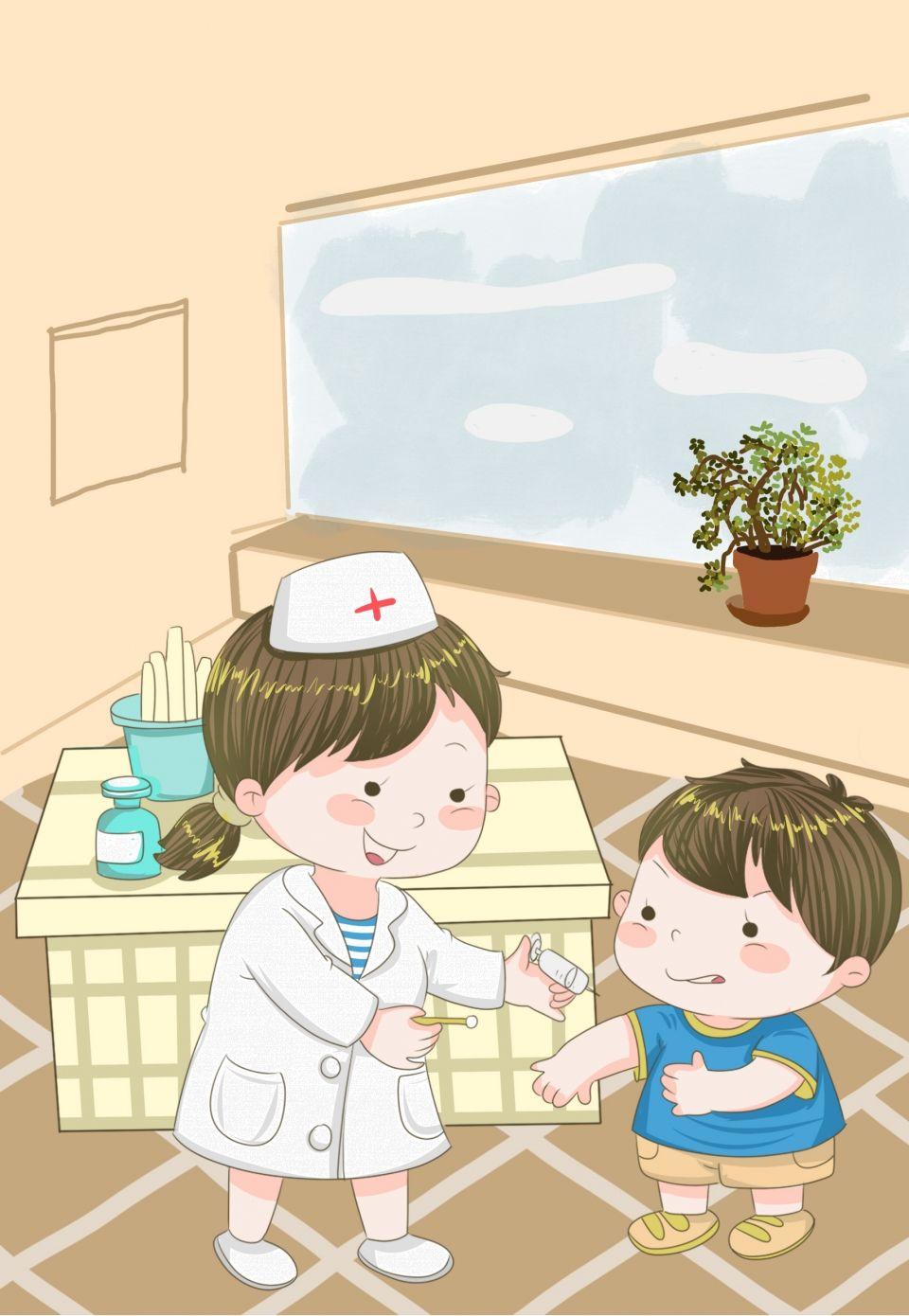 Prevencion De Enfermedades De Primavera Dibujos Animados Nino Vacunacion Dia Del Nino Dibujos Ninos Dibujos Animados Dibujos Para Ninos