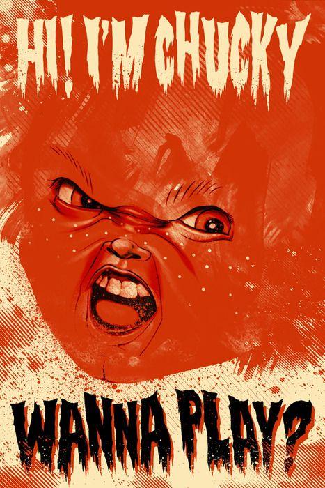 52 Bad Dudes Filmes De Terror Illustration Chucky