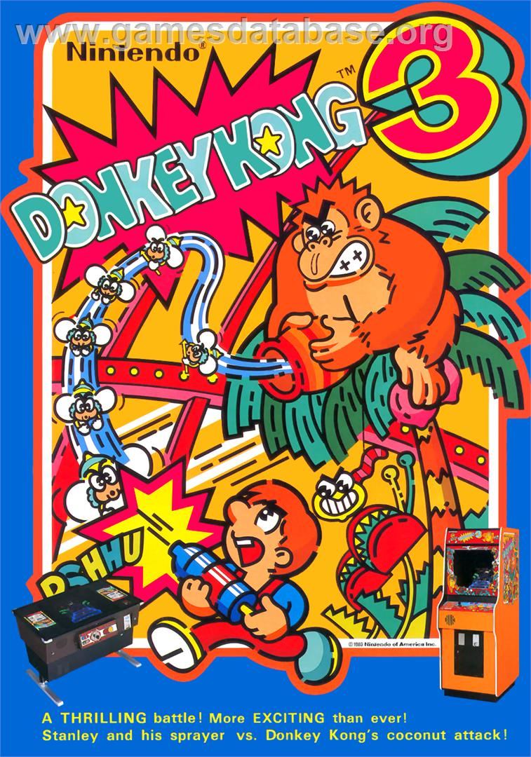 Donkey Kong 3 Arcade Artwork Advert Retro Games Poster Retro Arcade Games Retro Arcade