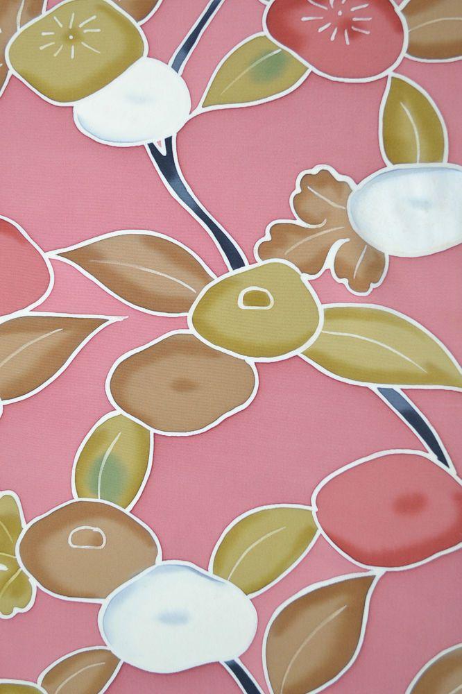 Vintage Silk Wedding Fabric Chunky Chrysanthemum Camellia E30