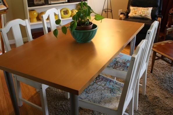 Diy Dining Chair Slipcovers : Diy Map Dining Chairs