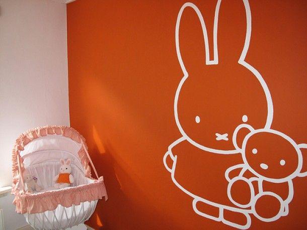 nijntje muurschildering, miffy   nijntje   pinterest   baby, Deco ideeën