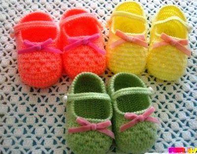 BEBE CROCHÊ: Sapatinho de Croche | Bebek kıyafetleri | Pinterest