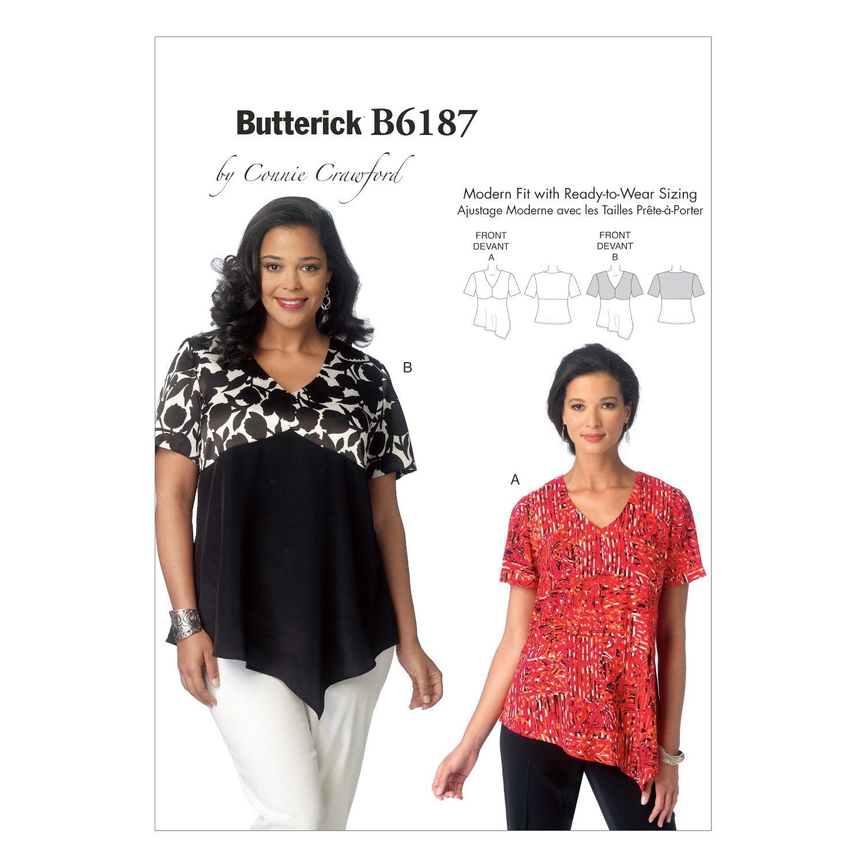 Mccall Pattern B6187 Xxl-1X-2X--Butterick PatternMccall Pattern B6187 Xxl-1X-2X--Butterick Pattern,