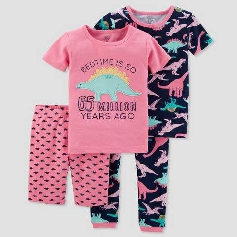 8a63361165 Just One You made by carter Baby Girls  4pc Dino Pajama Set - Just One You®  made by carter s Pink
