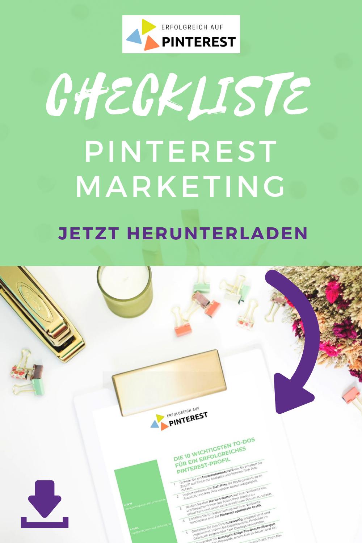 Checkliste Pinterest Marketing Marketing Marketing Konzept Checkliste
