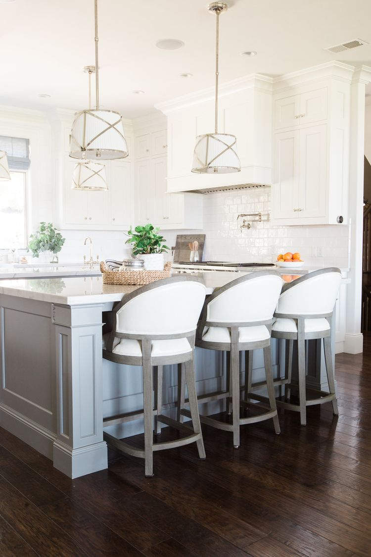 White And Gray Kitchen Mountainside Remodel Islands Bar Stools With Backs And Gray