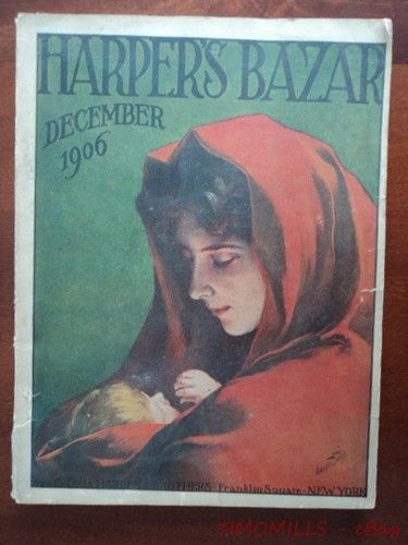 Harper's Bazar Cover - December, c.1906 - Franklin Square, New York. Image of, Mary and the Infant Jesus.