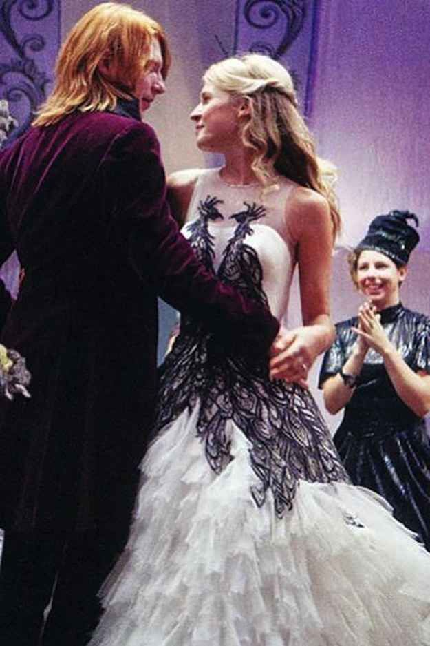 Vestido de novia de la pelicula harry potter
