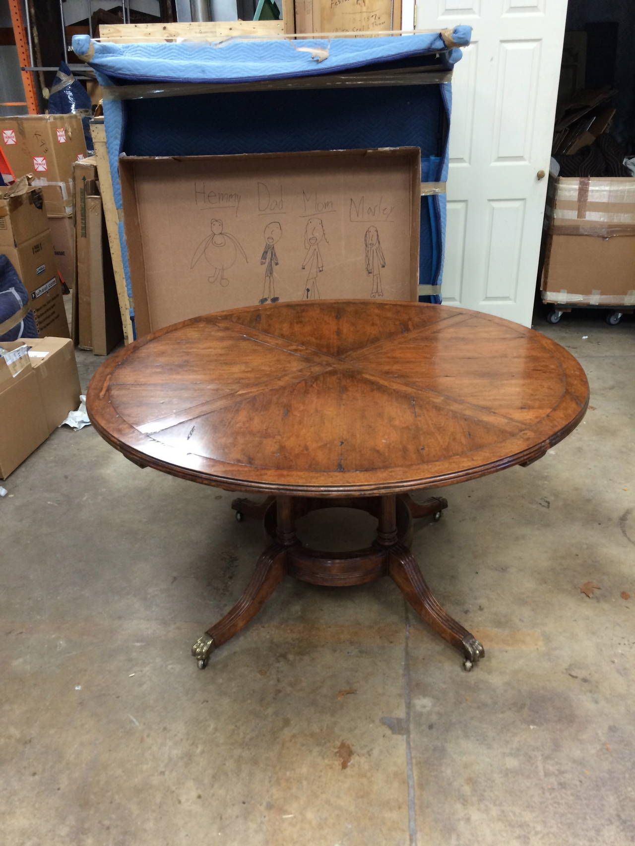 Classical Style Guy Chaddock Round Table With Leaves Around Periphery |  From A Unique Collection Of Antique And Modern Dining Room Tables At ...
