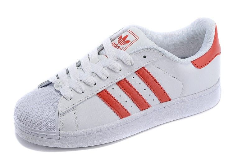 6103016e5 Adidas Originals Superstar leather G09879 White Red Unisex Casual shoes