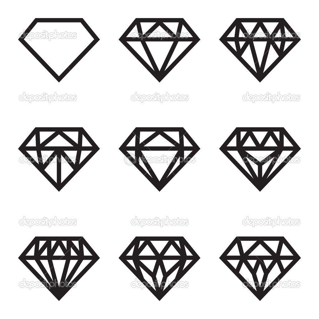 Diamond Vector Black Diamond Tattoos Diamond Graphic