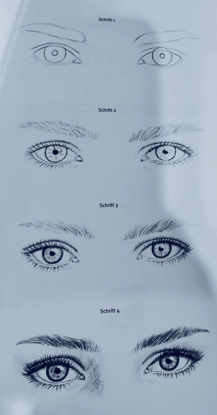 Augen zeichnen #augen #zeichnen #stepbystep - #Augen #frisuren2019 #stepbystep #zeichnen #pencildrawingtutorials