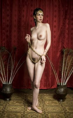 Female naked slave