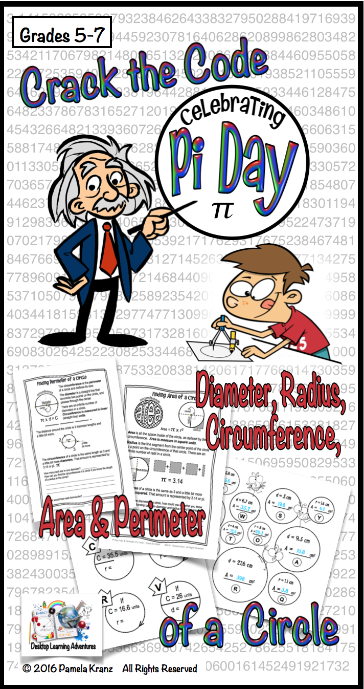 Workbooks worksheets on circumference and area of a circle : Pi Day: Area & Circumference of a Circle - Crack the Code Math ...