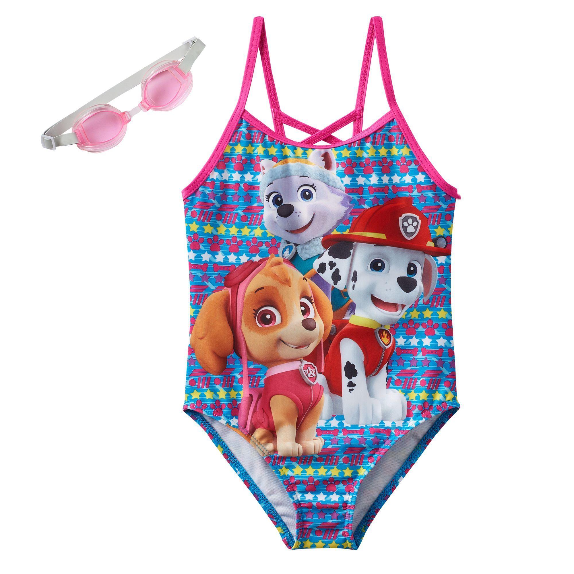 e9744c4f7e Girls 4-6x Paw Patrol Everest, Skye & Marshall One-Piece Swimsuit, Size:  5-6, Multicolor