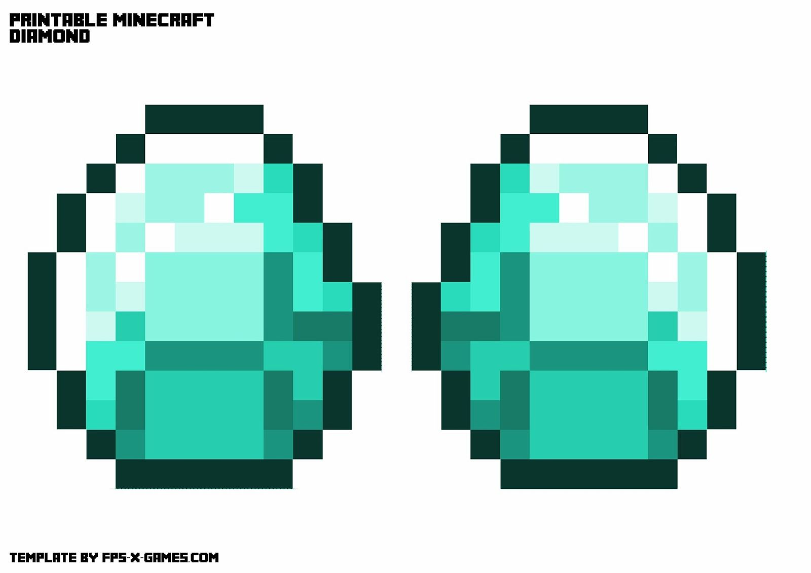 Minecraft Printable Diamond Imagenes De Minecraft Manualidades