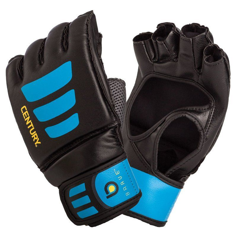 4fc618d15d9a Century Brave Open-Palm Glove Black Blue - 147004P-016252