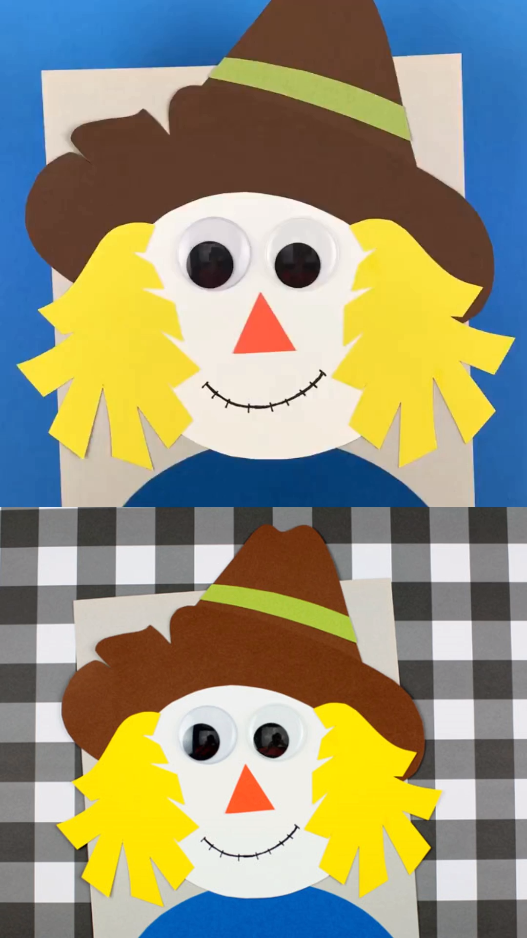 Scarecrow Paper Craft For Kids  Easy Fall Craft Idea - Scarecrow crafts, Fall crafts, Fall crafts for kids, Preschool crafts, Easy fall crafts, Easy preschool crafts - Make an easy scarecrow paper craft using the printable template  An easy fall craft idea for preschoolers and older kids
