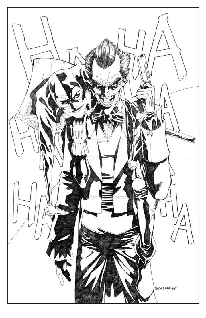 joker and harley quinn by mydyingrose