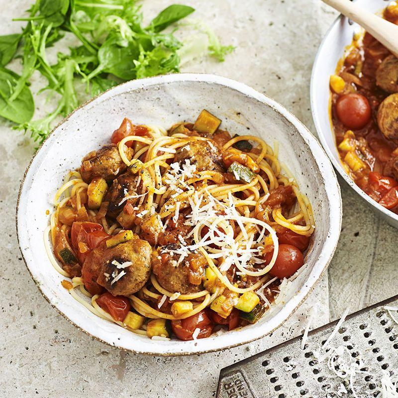 Italian Meatballs With Spaghetti Recipe Food Recipes Italian
