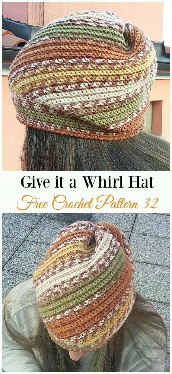 Crochet Slouchy Beanie Hat Free Patterns Tutorials #crochethatpatterns