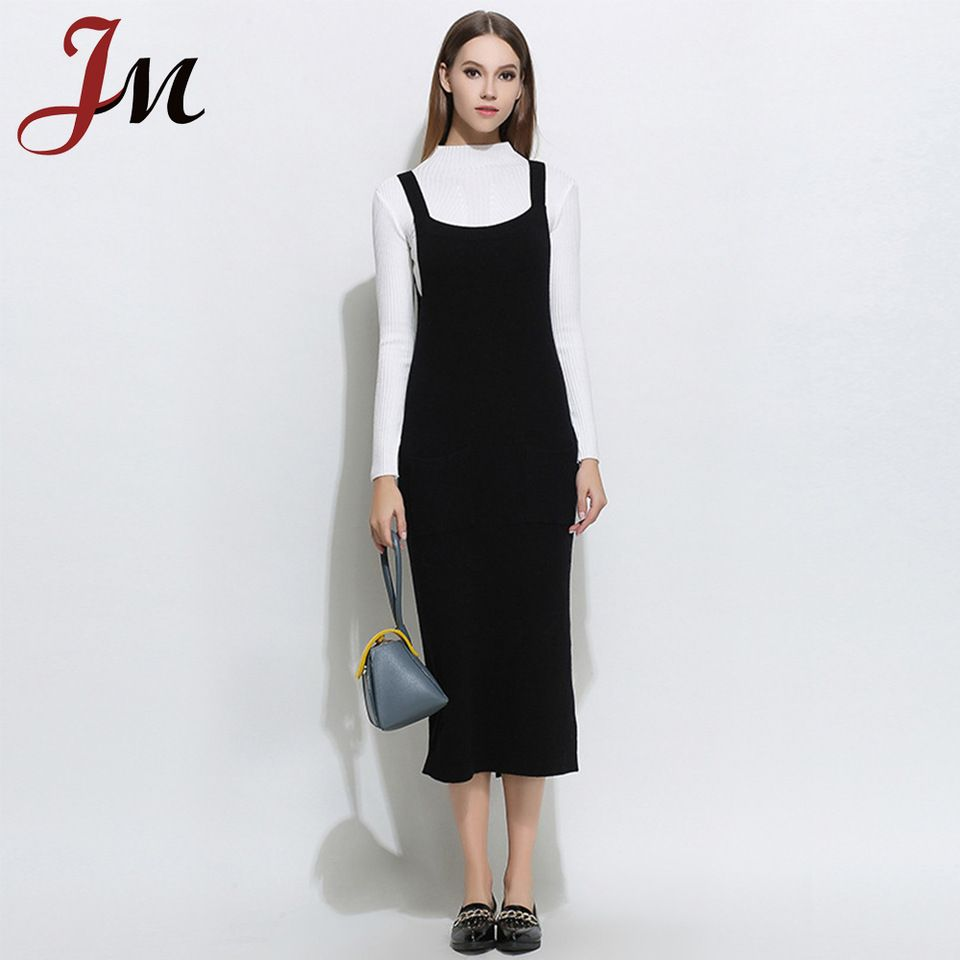 ... Women Plus Size. 2018 Latest knit dress design korean girl style  overall dress fancy dress wholesale 916b7d0f3267