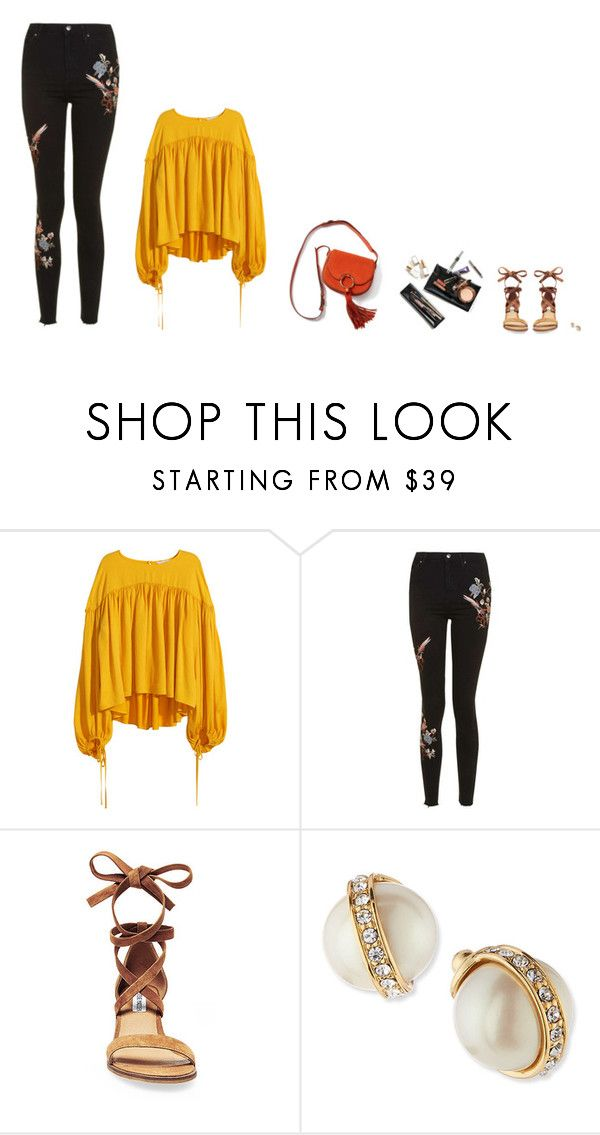 """Outfit #1243"" by trevianne ❤ liked on Polyvore featuring H&M, Topshop, Steve Madden, Tory Burch and Kate Spade"