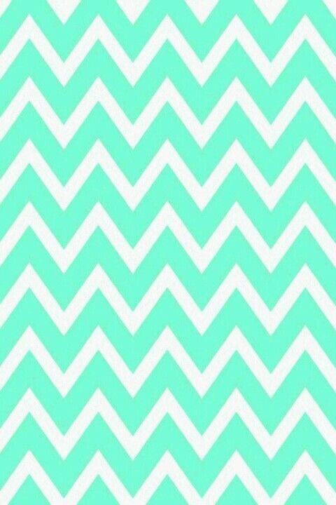 Classic Turquoise Chevron Print Wallpaper